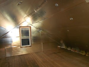 A Lake Forest attic with SuperAttic installed.